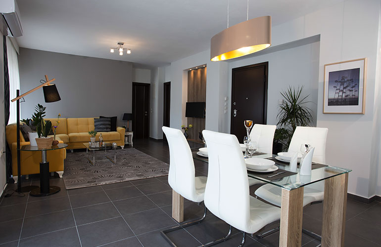 Polis Luxury Apartments & Studios Executive Two- Bedroom Apartment with Jacuzzi Shower